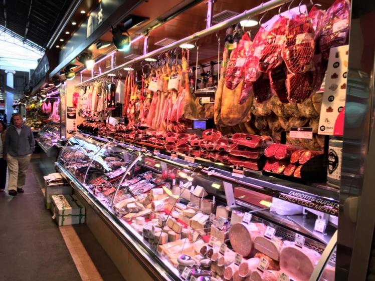Barecelona market meat