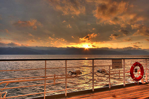 cruise-ship-deck-sunset