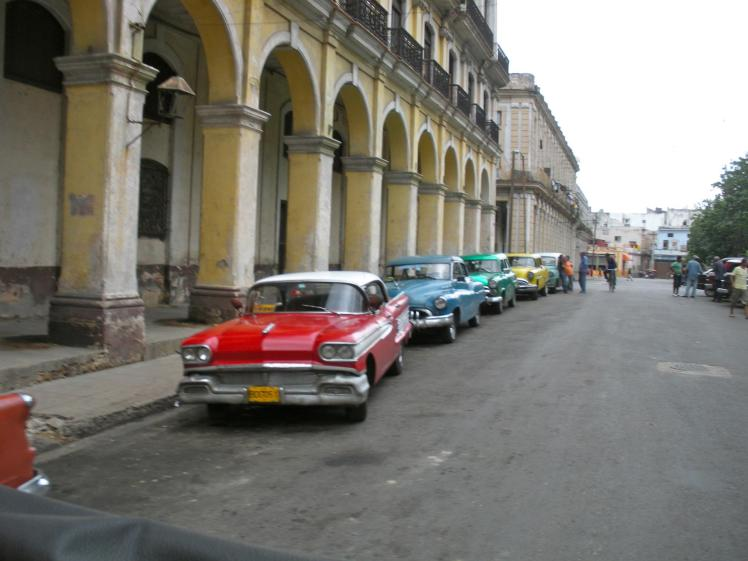 Havana street with cars